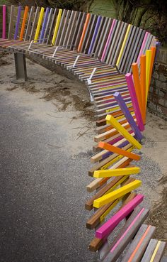 The Longest Bench designer Studio Weave