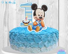 Baby Mickey Mouse Cake Topper or Centerpiece by PartyDecoTeresa