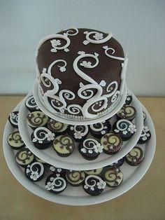 nouveau cake wedding cupcakes