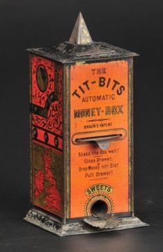 Bertoia Auctions - Max Berry Collection I - November 2014 Vintage Tins, Vintage Stuff, Vintage Kitchen, Retro Vintage, Vending Machine, Slot Machine, Uncommon Objects, Old School Toys, Money Bank