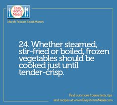 Don't forget this important tip when cooking your frozen veggies!