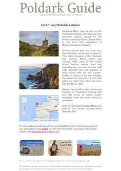 Levant and Botallack mines - Poldark 2015 Filming Locations - Photos, description and directions