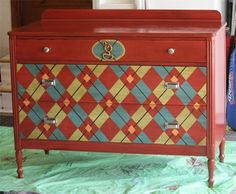 Before & After: A Preppy Makeover for a Beat-Up Dresser — Never a Dull Day