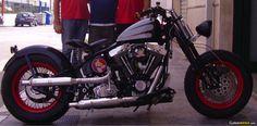 Harley Davidson Softail FXSTS Springer bobber. See more photos on CustomMANIA.com