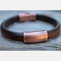 Men's Leather Bracelet Copper I, $50, now featured on Fab.