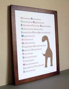Nursery Art Dinosaur Alphabet, 11x14 by ana9112