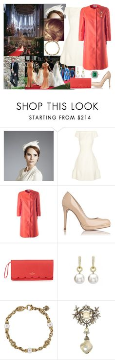 """Attending the wedding of her royal highness Princess Sophia and Jasper Weatherley"" by annaschoko007 ❤ liked on Polyvore featuring Marc Jacobs, Alberto Biani, Kate Spade and Judith Ripka"