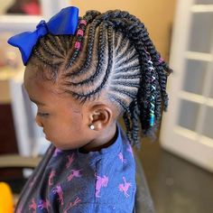 2019 Beautiful and Lovely Braids for Kids Natural Braided Hairstyles, Natural Hair Braids, Natural Hairstyles For Kids, Braids For Black Hair, Natural Hair Styles, Little Girl Braid Styles, Kid Braid Styles, Little Girl Braids, Braids For Kids