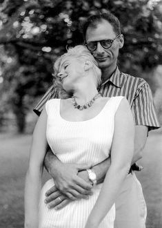 "tartanspartan:  "" oneradhuman:  "" suicideblonde:  "" Marilyn Monroe and Arthur Miller photographed by Sam Shaw, Sept 1957  "" """