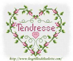 "Griglie Hearts - un cuore ""rose"" ... - 2 griglie a disposizione ... - griglie Liselotte"