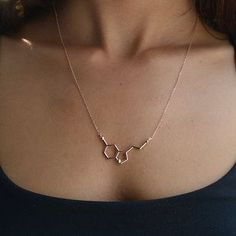 Serotonin Molecule Necklace | 23 Majestically Beautiful Pieces Of Science Jewelry