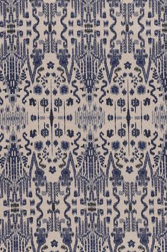 Mumbai -  Indian Blue textile from Lacefield Designs #indigo #ikat www.lacefielddesigns.com