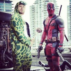@vancityreynolds has asked me several times now 'Dino, what is your super strength?' due to my appearances in #superman and #deadpool.  But is there anything more powerful than a plunger when you have a blocked toilet? But he just doesn't understand! #power #fight #dinoninja #plunge #ryanreynolds #badass #dinolook #dinolicious