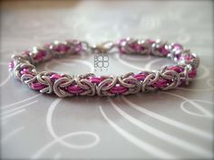Chainmail bracelet - I wish Tyler would make me one like this... he knows how to make chainmail I'm just not sure I could get him to make a bracelet lol
