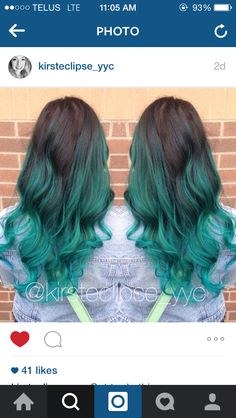 My manic panic atomic turquoise ombré. Done by the amazing @kirsteclipse_yyc