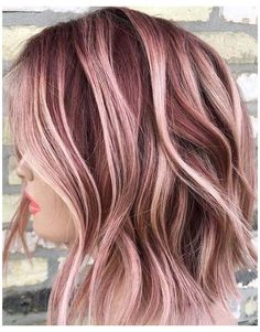 Gold Hair Colors, Hair Color Pink, Cool Hair Color, Pink Hair, Hair Colors For Fall, Color For Short Hair, Short Colorful Hair, Colored Short Hair, Blonde Fall Hair Color