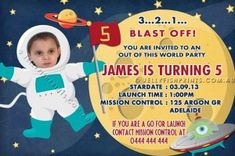 Rugby birthday invitations that you can customise and print. Birthday Invitations Kids, You Are Invited, Outer Space, Pretty Cool, Your Child, First Birthdays, Product Launch, Children, Rugby