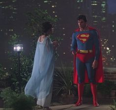 Margot Kidder as Lois Lane with Christopher Reeve as Superman