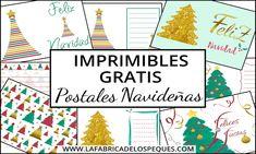 Imprimibles gratis: Postales navideñas