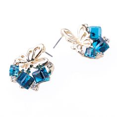 Find More Stud Earrings Information about Zenper Fashion 2017 Chic Shimmer Plated Gold Bow Cubic Crystal Earrings pendientes Rhinestone Stud Earrings earrings For Women ,High Quality earrings trendy,China earrings earrings Suppliers, Cheap earring plug from Yiwu zenper accessories crafts co.,ltd  on Aliexpress.com