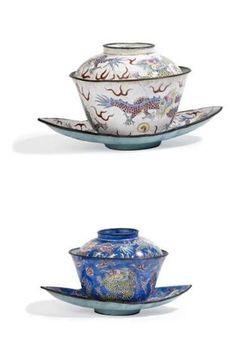 VIETNAM - Période MINH MANG (1820 - 1841). Deux paires de bols couverts