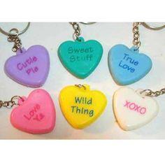 Heart Shape Colored Key Chain Set