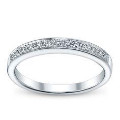U Two Ladies 14K White Gold and Diamond Wedding/Anniversary Ring