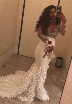 Prom Dress Princess, Amazing Mermaid White Long Sleeves See Through Leaves Decoration Sweetheart African Long Prom Dress, Shop ball gown prom dresses and gowns and become a princess on prom night. prom ball gowns in every size, from juniors to plus size. African Prom Dresses, Prom Dresses Long With Sleeves, Prom Dresses With Sleeves, Dress Prom, Long Dresses, Ball Dresses, Bridesmaid Dress, Ball Gowns, Evening Party Gowns