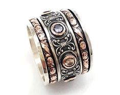 Real jewelry for real people: handmade & by IlanAmirJewelry Womens Wedding Bands, Wedding Men, Valentine's Day Rings, Silver Wedding Rings, Handmade Rings, Real People, Cuff Bracelets, Rings For Men, Gemstones