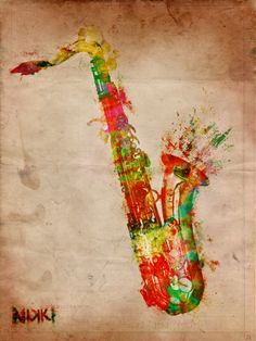 Sexy Saxophone is a digital watercolor painting, perfect artwork for any music lover or musician! Saxophone Tattoo, Saxophone Music, Tenor Sax, Clarinet, Instruments, Jazz Art, Music Tattoos, Tatoos, Arte Pop