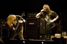 """Alex Webster and George """"Corpsegrinder"""" Fisher - Cannibal Corpse"""