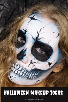 Check out my Halloween tutorials including this cracked skull makeup tutorial! #halloweenmakeup #halloweenlooks #easyhalloweenmakeup #halloweenmakeuptutorial #skullmakeup