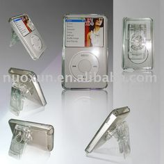 crystal case with swivel/rotatable clip for new ipod Classic