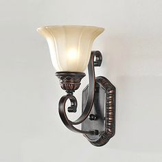 Yes for Butler's Pantry=Wall Sconce LED Wall Light Lamp For Home Lighting Traditional Iron Glass Painting Processing  Free Shipping-in Industrial Lighting from Lights & Lighting on Aliexpress.com | Alibaba Group