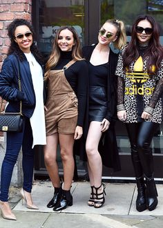 Little Mix leaving Key 103 in Manchester on their Radio Tour on October 22nd, 2015.