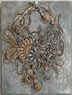 Cadre soutache collier deux soleils par PaolaGriffoSoutache
