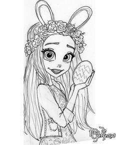Flowers and Chocolate! drawing sketch in progress!  #nadadeperfectas #happyeaster#workinprogress