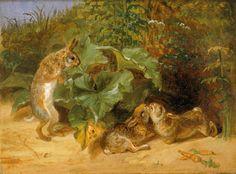Kissing Bunnies   William Holbrook Beard   Jackson Hole Art Auction
