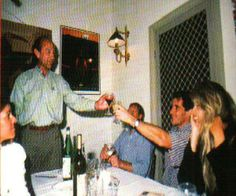 Jo Ramirez, Batise Assunção, Ayrton Senna e Adriane Galisteu. Confraternização. 1993.