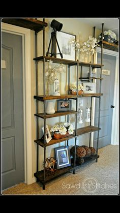 Build A Budget Friendly Industrial Shelf Using PVC Pipe