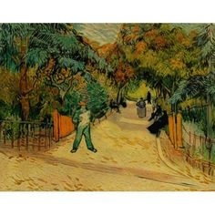 A Lane In The Public Garden At Arles   Vincent Van Gogh | Vincent Van Gogh  | Pinterest | Van Gogh, Public And Artwork