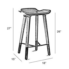 "Found it at AllModern - 27"" Bar Stool"