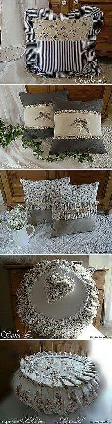 The sweetest pillows. Cute Pillows, Diy Pillows, Decorative Pillows, Throw Pillows, Cushion Covers, Pillow Covers, Sewing Crafts, Sewing Projects, Sewing Pillows