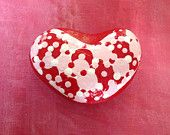 Hand Painted Rock - Heart Shaped