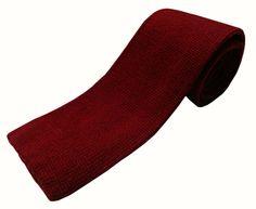 Nick Bronson - Plain Wool - Knitted Tie - Colour Grenat - Wine http://heroesofrichmond.co.uk/brands/accessories/nick-bronson-tie/
