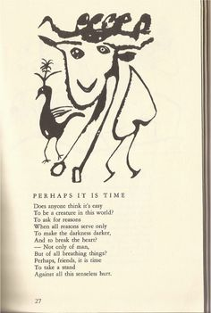 """laceyandcorey: """" by Kenneth Patchen """" Poetry Books, In This World, Book Art, Things To Think About, Creatures, Writings, Project Ideas, Illustration, Writer"""