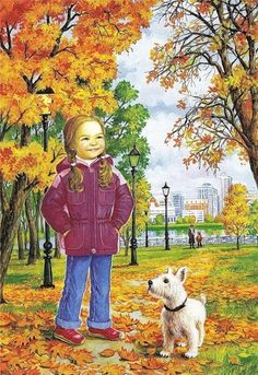 automne animated gifs - Page 8 Illustration Mignonne, Illustration Art, Animation, Gifs, Autumn Activities, Autumn Leaves, Animated Gif, Cute Kids, Art For Kids