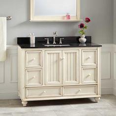 "48"" Schaefer Vanity for Rectangular Undermount Sink - Creamy White"