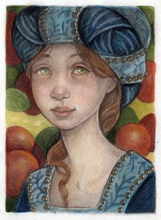 Medieval Maiden In Apple Orchard by WhimsicalMoon