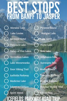 Everything you need to know before visiting the Icefeilds Parkway - Best Stops From Banff To Jasper Along The Icefields Parkway Road Trip – Canadian Rockies Must Se - Canada National Parks, Banff National Park, Jasper National Park, Alberta Travel, Travel Aesthetic, Travel Goals, Canada Travel, Plan Your Trip, Travel Guides
